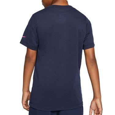 Nike Boys Court Dri Fit Rafa Tee Shirt Obisidian/Digital Pink CU0337 451