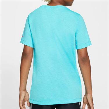 Nike Boys Court Dri Fit Rafa Tee Shirt Polarized Blue CU0337 468