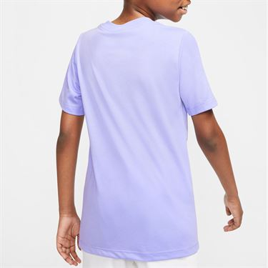 Nike Boys Court Dri Fit Rafa Tee Shirt Purple Pulse/Digital Pink CU0337 532