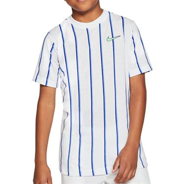 Nike Boys Court Dri Fit Crew Shirt White CU0338 100