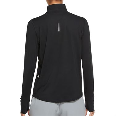 Nike Element 1/2 Zip Long Sleeve Top Womens Black/Reflective Silver CU3220 010