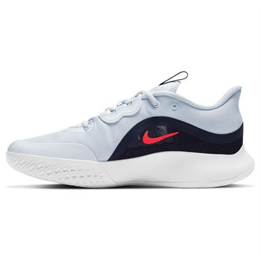 Nike Court Air Max Volley Womens Tennis Shoe Football Grey/Bright Crimson CU4275 003