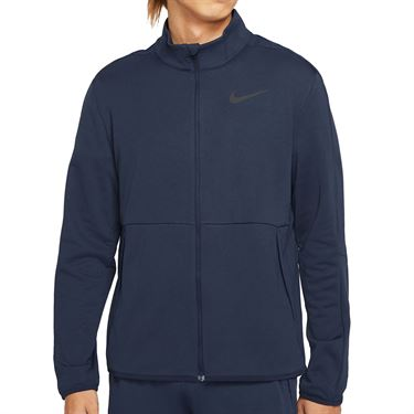 Nike Dri FIT Full Zip Jacket Mens Obsidian/Black CU4947 451