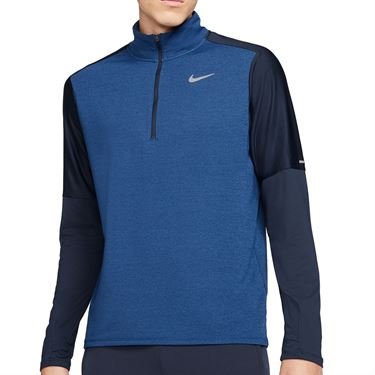 Nike Dri FIT 1/2 Zip Jacket Mens Obsidian/Game Royal/Reflective Silver CU6073 452