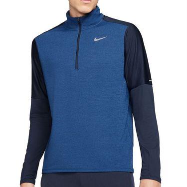 Nike Dri FIT 1/2 Zip Jacket Mens Obsidian/Game Royal/Reflective Silver CU6073 452