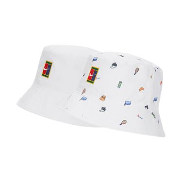 Nike Court Bucket Hat Mens White CU6441 100