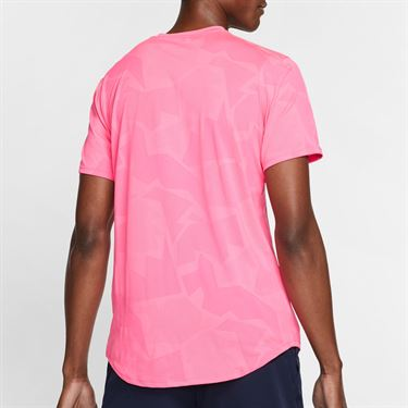 Nike Court AeroReact Rafa Crew Shirt Mens Digital Pink/Gridiron CU7916 679