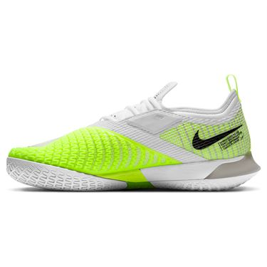 Nike Court React Vapor NXT Mens Tennis Shoe Grey Fog/Black/White/Volt CV0724 001