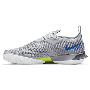 Nike Court React Vapor NXT Mens Tennis Shoe Light Smoke Grey/Hyper Royal/Aluminum CV0724 008