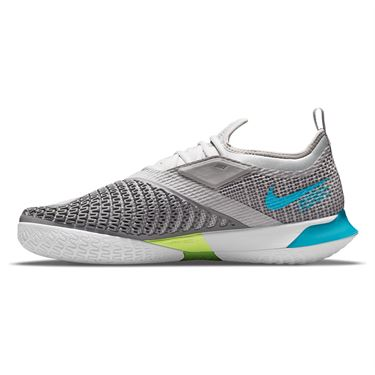 Nike Court React Vapor NXT Mens Tennis Shoe Grey Fog/Chlorine Blue/Hyper Pink/White CV0724 024
