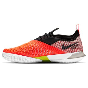 Nike Court React Vapor NXT Mens Tennis Shoe White/Black/Hyper Crimson/Volt CV0724 100