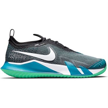 Nike Court React Vapor NXT Mens Tennis Shoe Dark Teal Green/White/Black/Green Glow CV0724 324