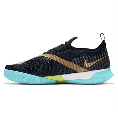 Nike Court React Vapor NXT Mens Tennis Shoe Dark Obsidian/Metallic Gold CV0724 400