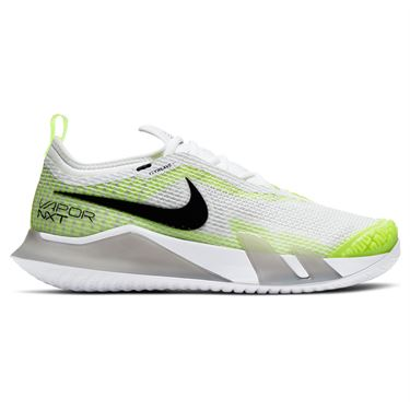 Nike Court React Vapor NXT Womens Tennis Shoe Grey Fog/Black/White/Volt CV0742 001