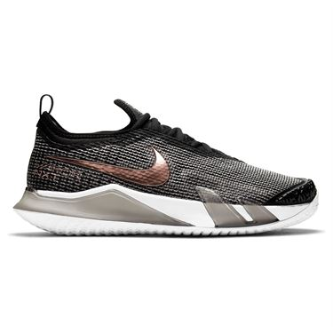 Nike Court React Vapor NXT Womens Tennis Shoe Black/White/Metallic Red Bronze CV0742 002