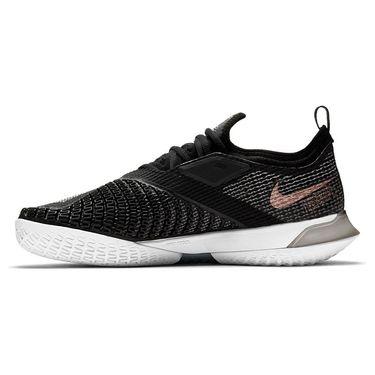 Nike Court React Vapor NXT Womens Tennis Shoe Black/White/Metallic Red Bronze CV0742 002