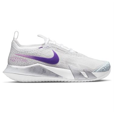 Nike Court React Vapor NXT Womens Tennis Shoe Photon Dust/Court Purple/Fuchsia Glow CV0742 024