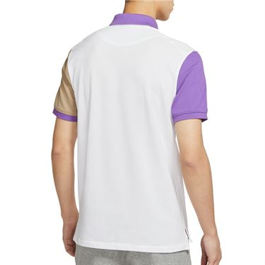 Nike The Nike Polo Shirt Mens White/Wild Berry/Parachute Beige CV2482 100