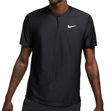 Nike Court Dri FIT Advantage Shirt Mens Black/White CV2499 010