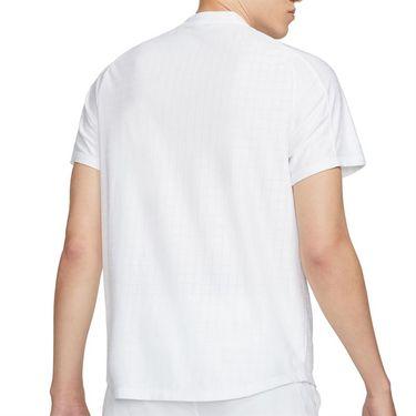 Nike Court Dri FIT Advantage Shirt Mens White/Black CV2499 100