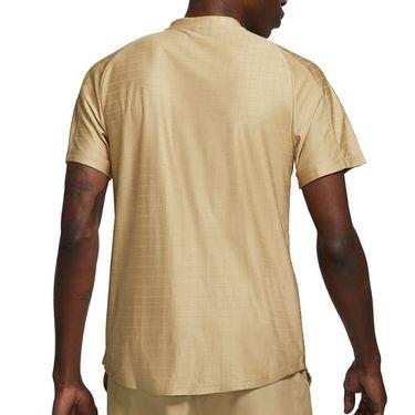 Nike Court Dri FIT Advantage Shirt Mens Parachute Beige/Black CV2499 297