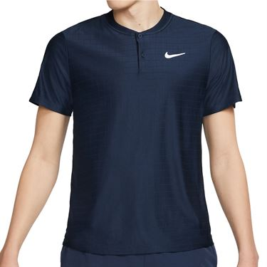 Nike Court DF Advantage Polo - Obsidian/White