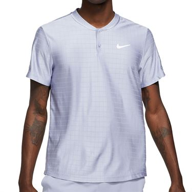 Nike Court Dri FIT Advantage Shirt Mens Indigo Haze/White CV2499 519