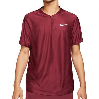 Nike Court Dri FIT Advantage Shirt Mens Dark Beetroot/White CV2499 638