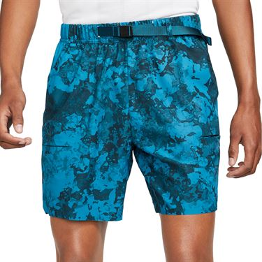 Nike Court Flex Slam Short Mens Green Abyss/Black/White CV2519 301