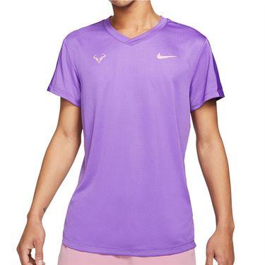 Nike Rafa Challenger Shirt Mens Wild Berry/Elemental Pink CV2472 528