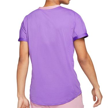 Nike Court Dri FIT ADV Rafa Shirt Mens Wild Berry/Elemental Pink CV2802 528