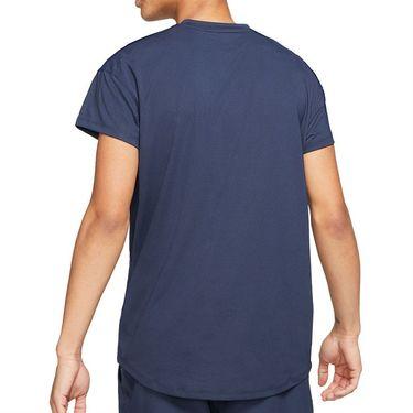 Nike Court Breathe Slam Shirt Mens Obsidian/White CV2814 451