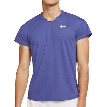 Nike Court Breathe Slam Shirt Mens Dark Purple Dust/White CV2814 510