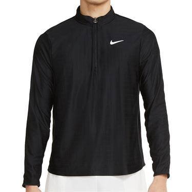 Nike Court Breathe Advantage 1/2 Zip Jacket Mens Black/White CV2866 010