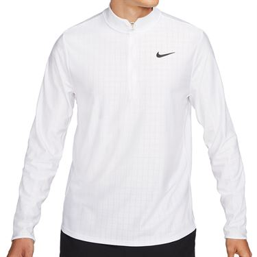 Nike Court Breathe Advantage 1/2 Zip Jacket Mens White/Black CV2866 100