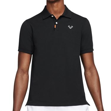 Nike Rafa The Nike Polo Shirt Mens Black/White CV2969 010