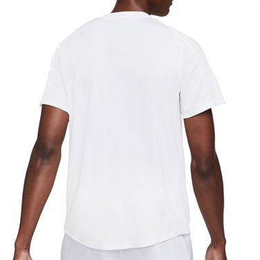 Nike Court Dri FIT Victory Shirt Mens White/Black CV2982 100