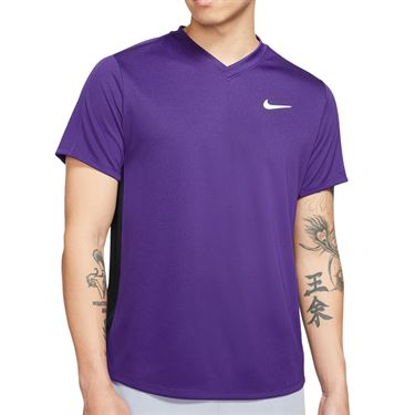 Nike Court Dri FIT Victory Shirt Mens Court Purple/Black/White CV2982 547