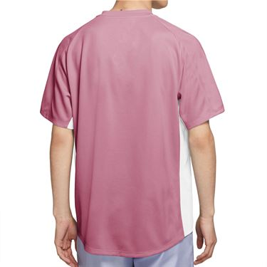 Nike Court Dri FIT Victory Shirt Mens Elemental Pink/White CV2982 698