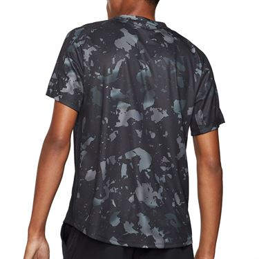 Nike Court Dri-Fit Victory Printed Crew - Black/White