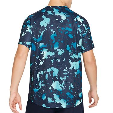 Nike Court Dri-Fit Victory Printed Crew - Obsidian/White