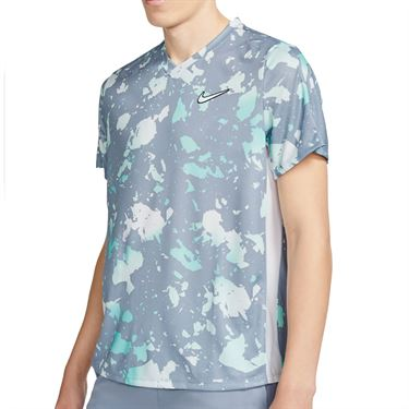 Nike Court Dri FIT Victory Shirt Mens Indigo Haze/White CV3135 519