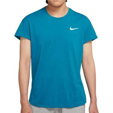 Nike Court Breathe Slam Shirt Mens Green Abyss/White CV3840 301