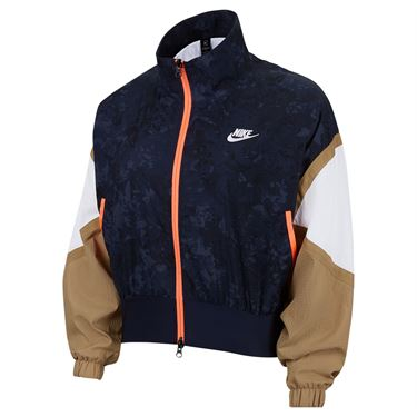 Nike Court Slam Full Zip Jacket Womens Obsidian/White/Parachute Beige/White CV4162 451