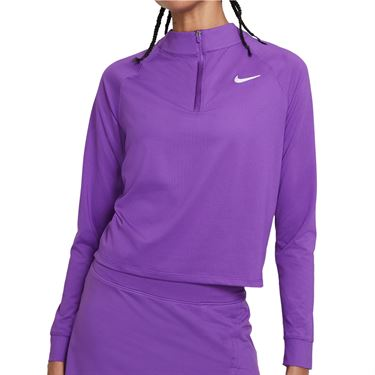 Nike Court Dri FIT Victory Long Sleeve Top Womens Wild Berry/White CV4697 528