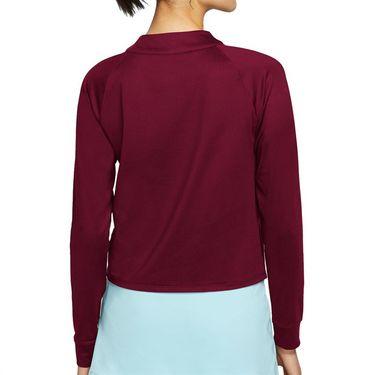 Nike Court Dri FIT Victory Long Sleeve Top Womens Dark Beetroot/White CV4697 638