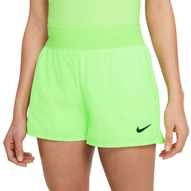 Nike Court Dri FIT Victory Short Womens Lime Glow/Black CV4817 345