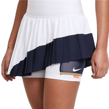 Nike Court Slam Skirt Womens White/Obsidian CV4829 100
