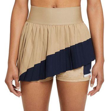 Nike Court Slam Skirt Womens Parachute Beige/Obsidian/White CV4829 297