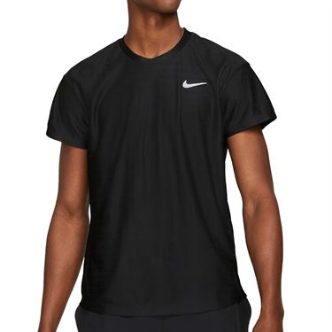 Nike Court Breathe Advantage Shirt Mens Black/White CV5032 010